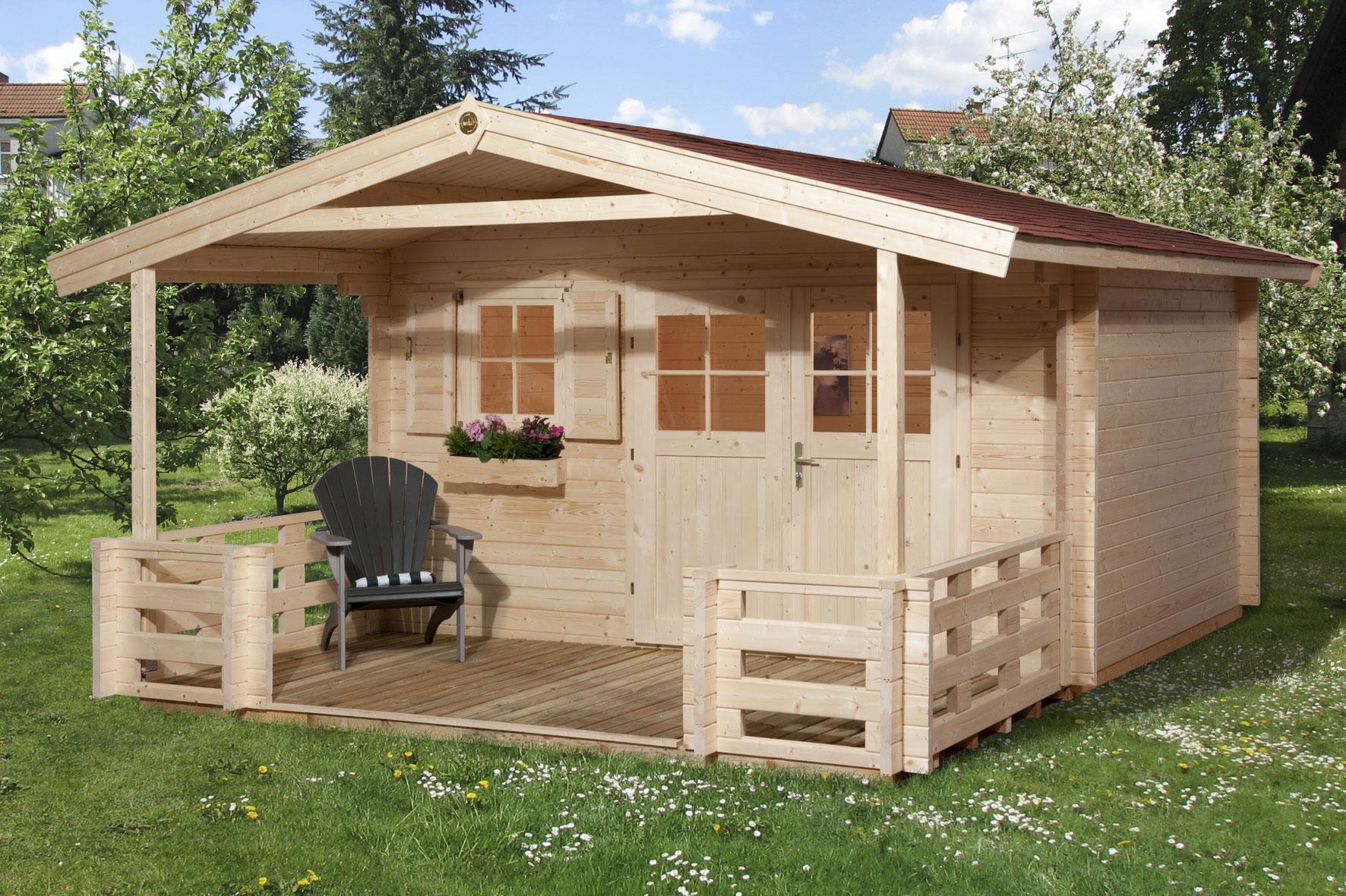 weka blockbohlenhaus 45 mm gartenhaus 136b gr 1 natur 460x510cm bei. Black Bedroom Furniture Sets. Home Design Ideas