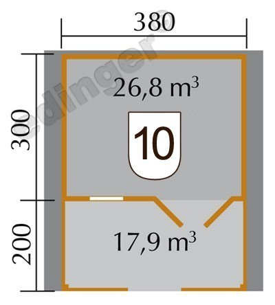 Weka Blockbohlenhaus 45 mm Gartenhaus 136B Gr.1 natur 460x510cm Bild 2