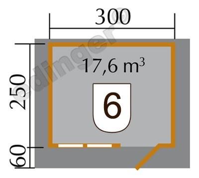 Weka Blockbohlenhaus 45 mm Gartenhaus 139A Gr.1 natur 380x320cm Bild 2