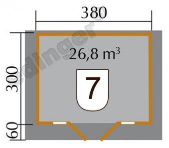 Weka Blockbohlenhaus 45 mm Weekendhaus 137 Gr.1 natur 460x370cm Bild 2