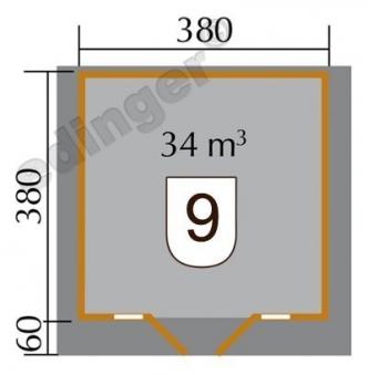 Weka Blockbohlenhaus 45 mm Weekendhaus 137 Gr.2 natur 460x450cm Bild 2