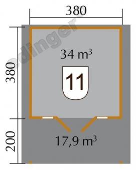 Weka Blockbohlenhaus 45 mm Weekendhaus 137A Gr. 2 natur 460x590cm Bild 2