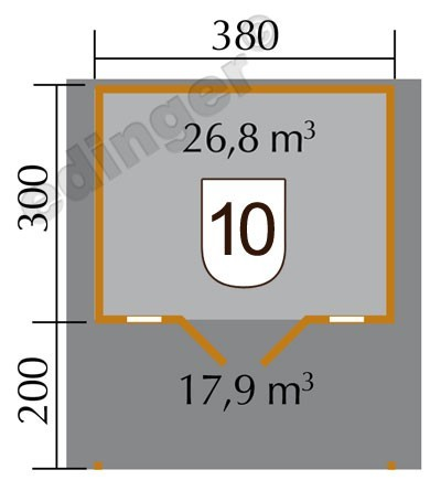 Weka Blockbohlenhaus 45 mm Weekendhaus 137A Gr.1 natur 460x510cm Bild 2