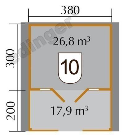 Weka Blockbohlenhaus 45 mm Weekendhaus 137B Gr. 1 natur 460x510cm Bild 2