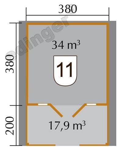 Weka Blockbohlenhaus 45 mm Weekendhaus 137B Gr.2 natur 460x590cm Bild 2