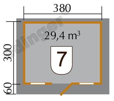 Weka Blockbohlenhaus 45 mm Weekendhaus 138 Gr.1 natur 460x370cm Bild 2