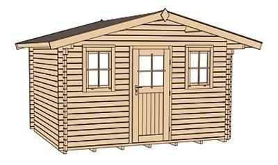 Weka Blockbohlenhaus 45 mm Weekendhaus 138 Gr.1 natur 460x370cm Bild 4