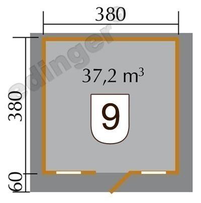 Weka Blockbohlenhaus 45 mm Weekendhaus 138 Gr.2 natur 460x450cm Bild 2