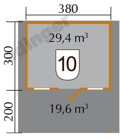 Weka Blockbohlenhaus 45 mm Weekendhaus 138A Gr.1 460x510cm Vordach Bild 2