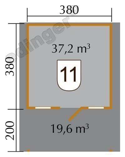 Weka Blockbohlenhaus 45 mm Weekendhaus 138A Gr.2 460x590cm mit Vordach Bild 2