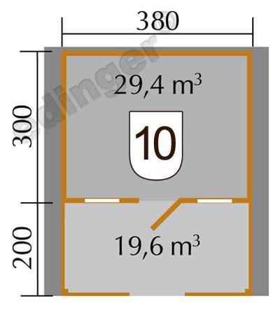 Weka Blockbohlenhaus 45 mm Weekendhaus 138B Gr.1 460x510cm VD+Terrasse Bild 2