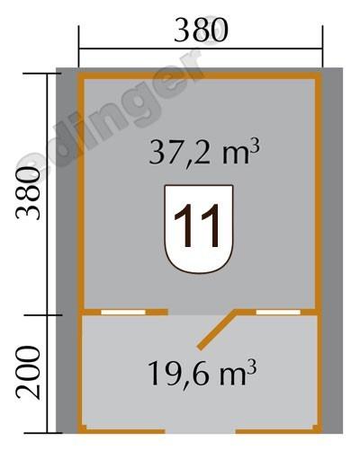 Weka Blockbohlenhaus 45 mm Weekendhaus 138B Gr.2 460x590cm VD+Terrasse Bild 2