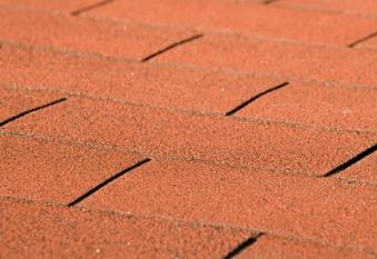 Bitumen - Dachschindeln Weka rechteckig rot