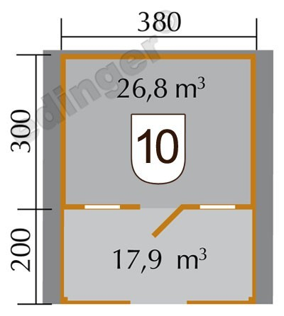 Weka Blockbohlenhaus 45mm Gartenhaus 135B Gr. 1 460x510cm VD+Terrasse Bild 2
