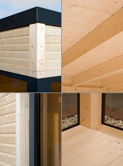 Weka design gartenhaus cubilis natur 386x306cm bei - Gartenhaus design ...