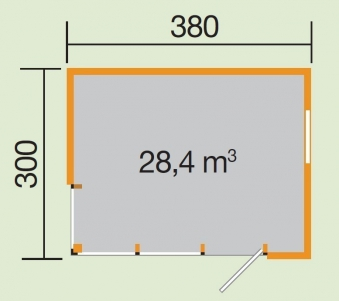 Weka Design Gartenhaus Cubilis natur 386x306cm Bild 2