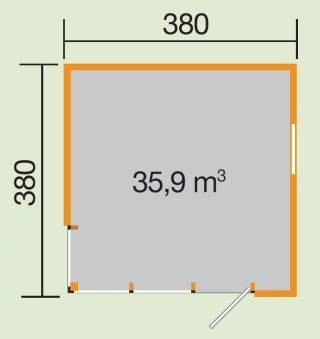 Weka Design Gartenhaus Cubilis natur 390x390cm Bild 2