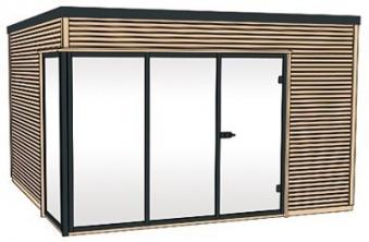 Weka Design Gartenhaus Cubilis natur 390x390cm Bild 4