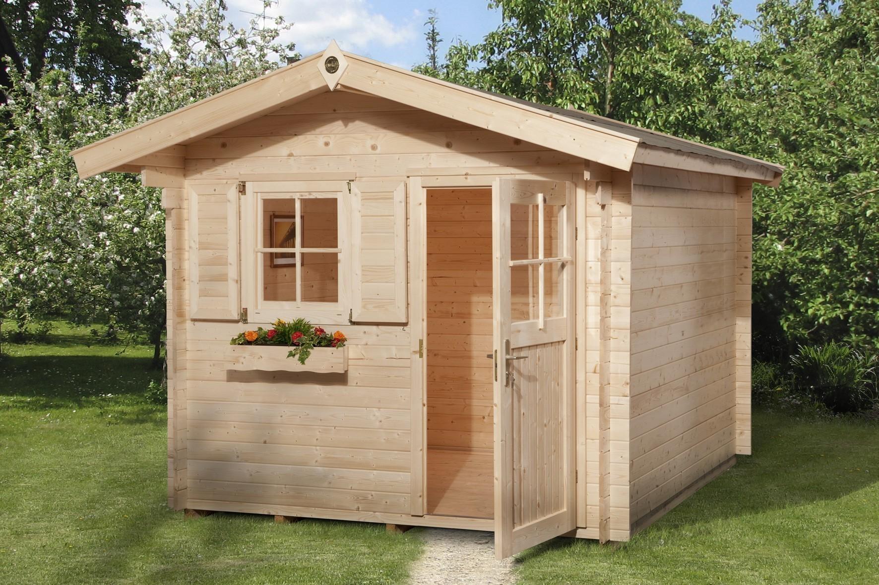 weka gartenhaus 28 mm 106 gr 4 natur 300x370cm bei. Black Bedroom Furniture Sets. Home Design Ideas