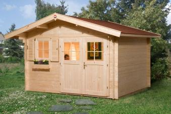 Weka Gartenhaus 28 mm 109 Gr. 1 natur 420x320cm Bild 1