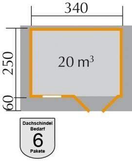 Weka Gartenhaus 28 mm 109 Gr. 1 natur 420x320cm Bild 2
