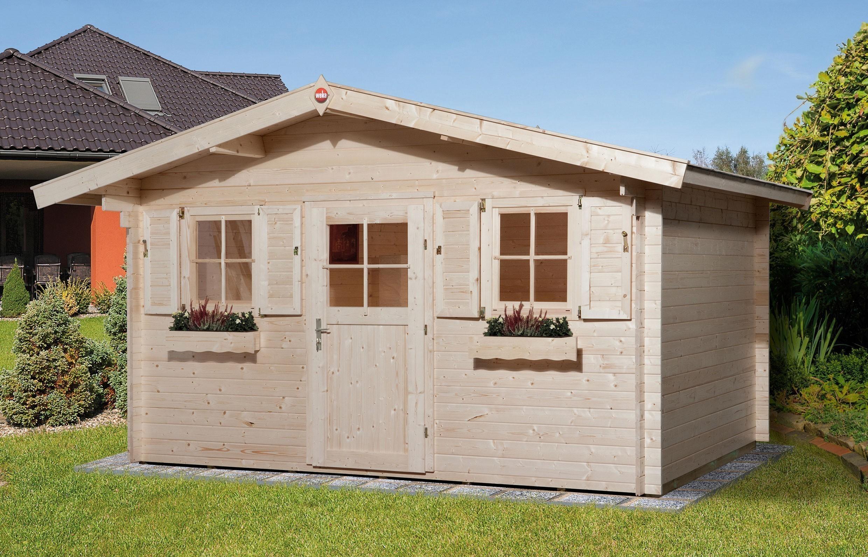 weka gartenhaus 28 mm 110 gr 1 natur 460x450cm bei. Black Bedroom Furniture Sets. Home Design Ideas