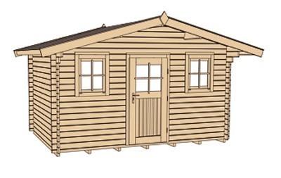 Weka Gartenhaus 28 mm 110 Gr. 1 natur 460x450cm Bild 4