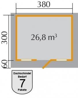 Weka Gartenhaus 28 mm 110 Gr. 1 natur 460x450cm Bild 2
