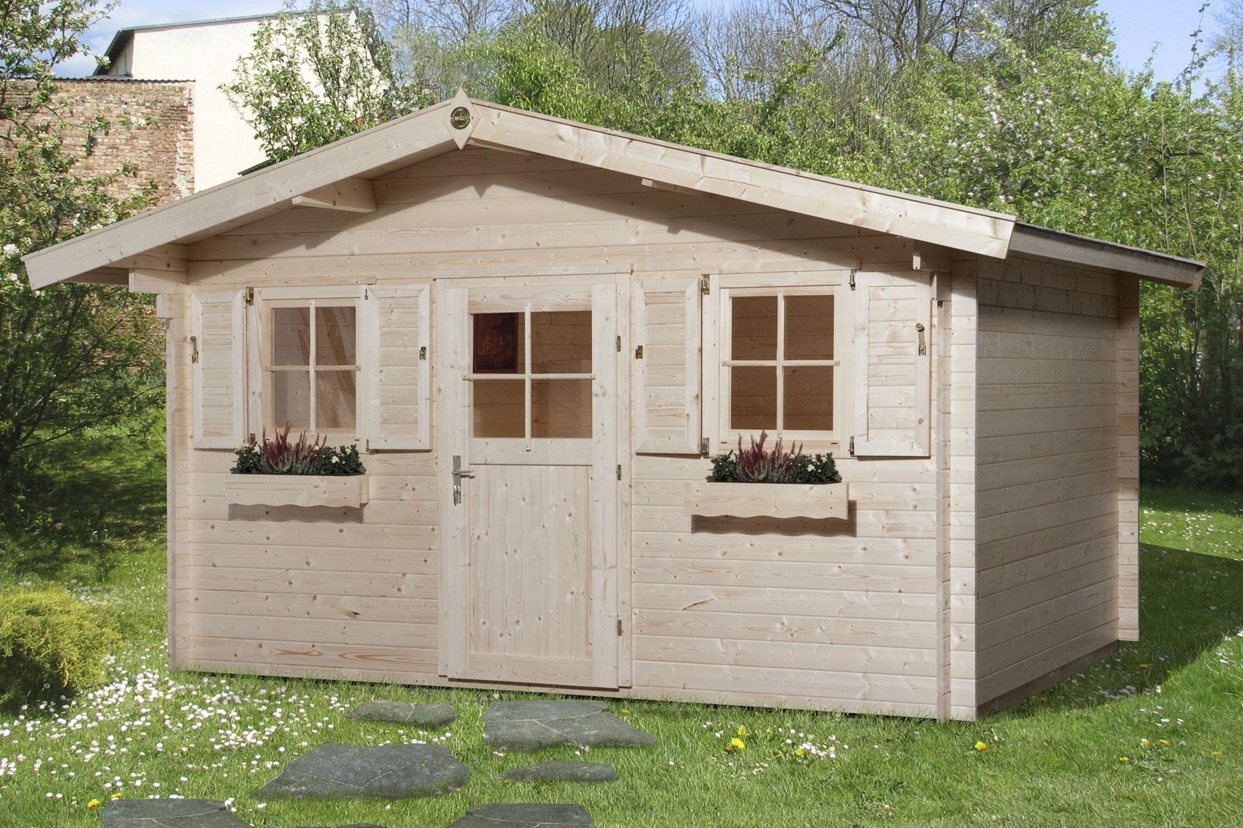 weka gartenhaus 28 mm 110 gr 2 natur 460x450cm bei. Black Bedroom Furniture Sets. Home Design Ideas