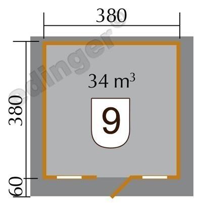 Weka Gartenhaus 28 mm 110 Gr.2 natur 460x450cm Bild 2
