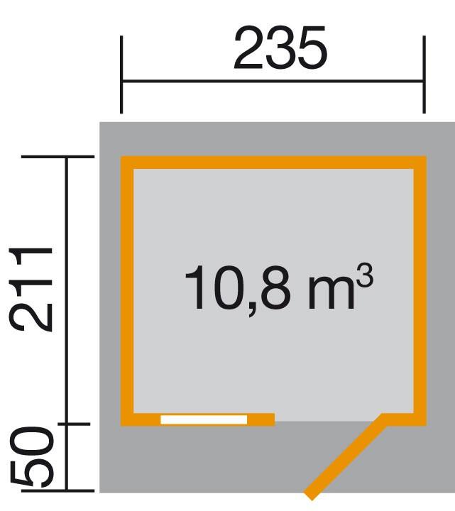 Weka Gartenhaus 28 mm 170 Gr. 1 natur 281x279cm VD50cm Bild 2