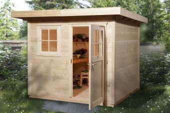 Weka Gartenhaus 28 mm 170 Gr. 1 natur 281x279cm VD50cm Bild 1