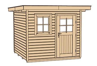 Weka Gartenhaus 28 mm 170 Gr. 2 natur 281x310cm VD 50cm Bild 4