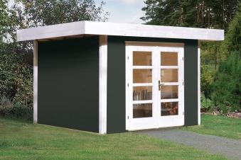 Weka Gartenhaus 28 mm Designhaus 126 Gr.1 anthrazit 356x293cm VD 50cm Bild 1