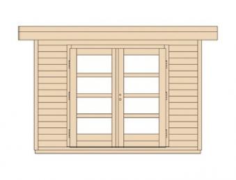 Weka Gartenhaus 28 mm Designhaus 126 Gr.1 anthrazit 356x293cm VD 50cm Bild 3