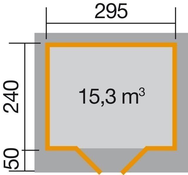 Weka Gartenhaus 28 mm Designhaus 126 Gr.2 natur 356x325cm VD 50cm Bild 2