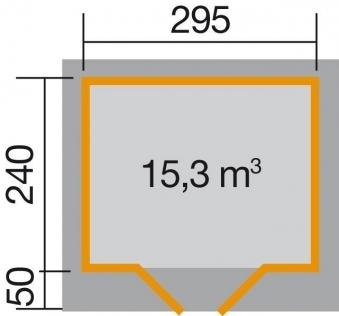 Weka Gartenhaus 28 mm Designhaus 126 Gr.2 rot 356x325cm VD 50cm Bild 2