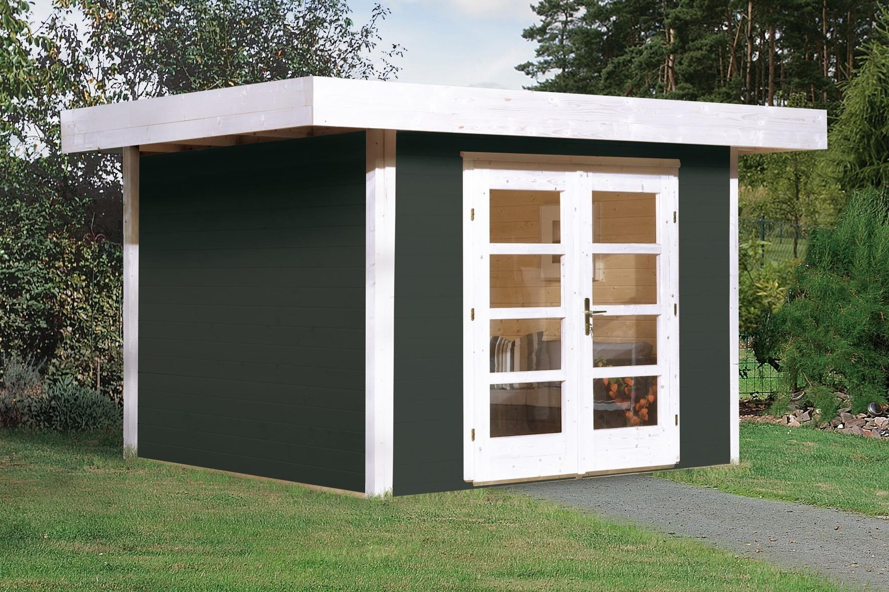 Weka Gartenhaus 28 mm Designhaus 126 Gr.3 anthrazit 356x388cm VD 50cm Bild 1