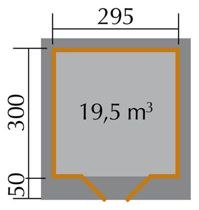 Weka Gartenhaus 28 mm Designhaus 126 Gr.3 natur 356x388cm VD 50cm Bild 2