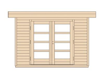 Weka Gartenhaus 28 mm Designhaus 126 Gr.3 natur 356x388cm VD 50cm Bild 4