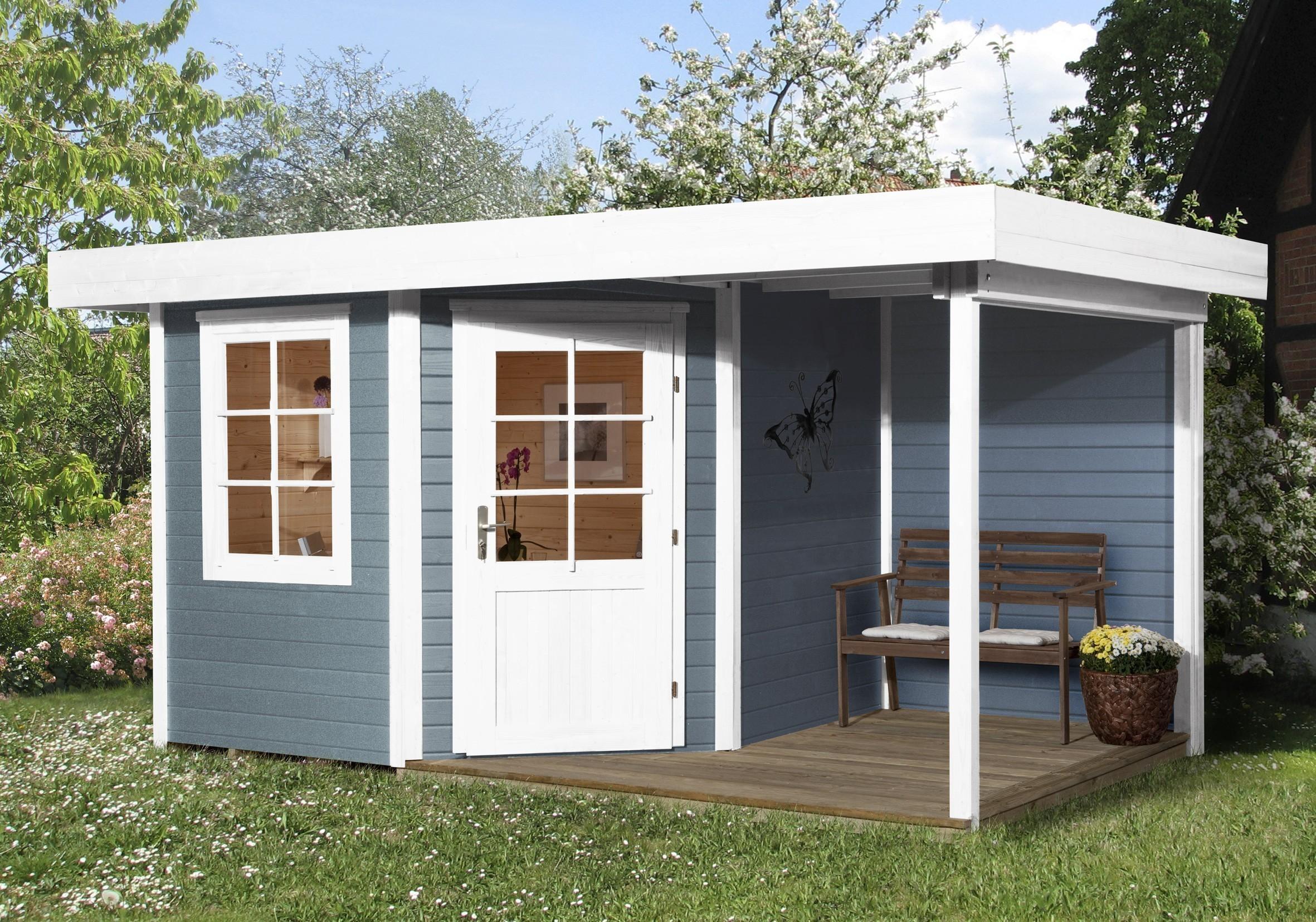 weka gartenhaus 28 mm designhaus 213a gr 1 anbau grau. Black Bedroom Furniture Sets. Home Design Ideas