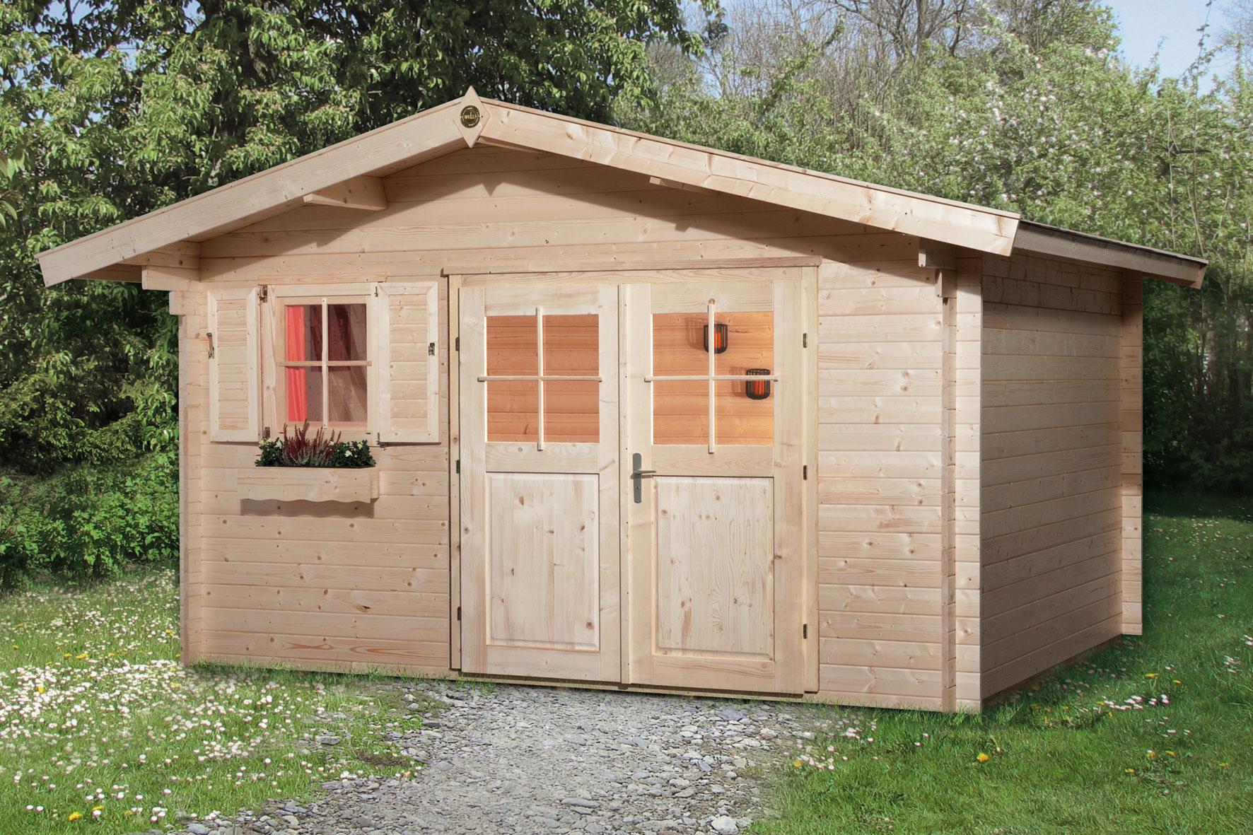 Weka Gartenhaus 28 mm Gartenhaus 111 Gr.2 natur 460x370cm Bild 1