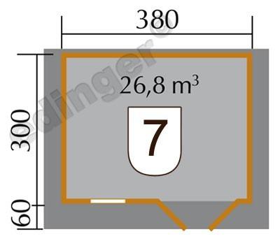 Weka Gartenhaus 28 mm Gartenhaus 111 Gr.2 natur 460x370cm Bild 2