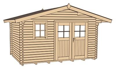 Weka Gartenhaus 28 mm Gartenhaus 111 Gr.2 natur 460x370cm Bild 3