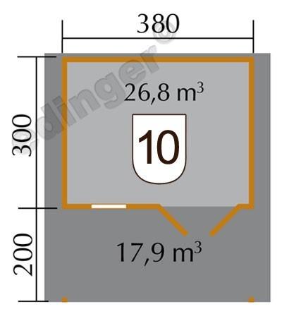 Weka Gartenhaus 28 mm Gartenhaus 111A Gr.2 natur 460x510cm Bild 2