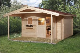 Weka Gartenhaus 28 mm Gartenhaus 111A Gr.2 natur 460x510cm Bild 1
