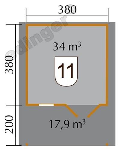 Weka Gartenhaus 28 mm Gartenhaus 111A Gr.3 natur 460x590cm Bild 2