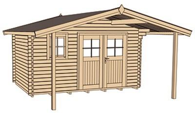 Weka Gartenhaus 28 mm Gartenhaus 111A Gr.3 natur 460x590cm Bild 3