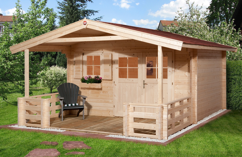weka gartenhaus 28 mm gartenhaus 111b gr 1 natur 460x460cm. Black Bedroom Furniture Sets. Home Design Ideas
