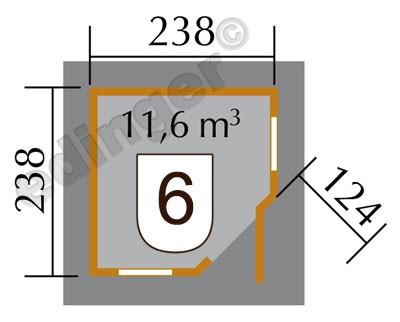 Weka Gartenhaus 28mm 149 5-Eck Gr. 1 natur 318x318cm Bild 2